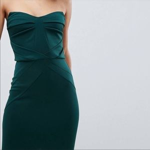 Gorgeous emerald green strapless dress